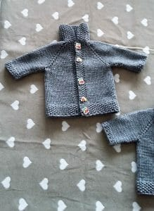 knitted baby sweater unisex
